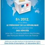 S'inscrire, mettre à jour ou renouveler son inscription au Consulat avant le 31 décembre 2011 pour voter au Royaume-Uni en 2012